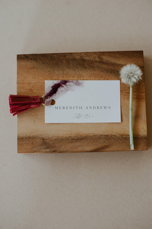 scarlett  burgundy wedding place card template maroon