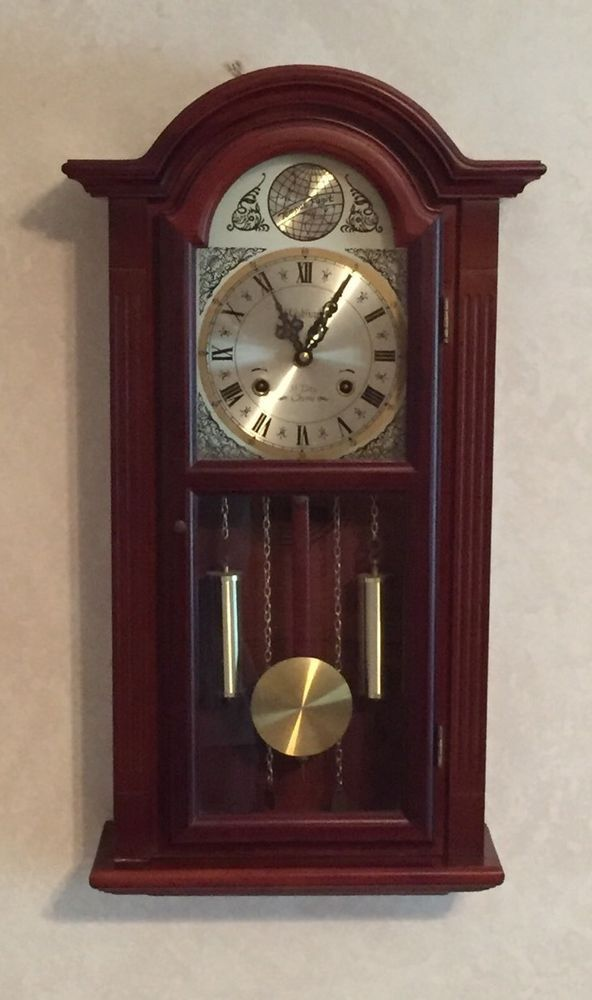 Vintage Waltham Tempus Fugit 31 Day Wall Clock Chimes