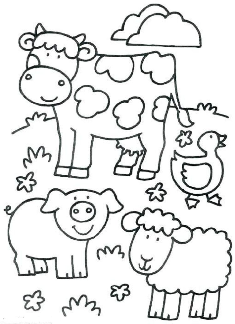 Toddlers Coloring Pages Farm Animals Farm Coloring Pages Farm Animal Coloring Pages Animal Coloring Pages