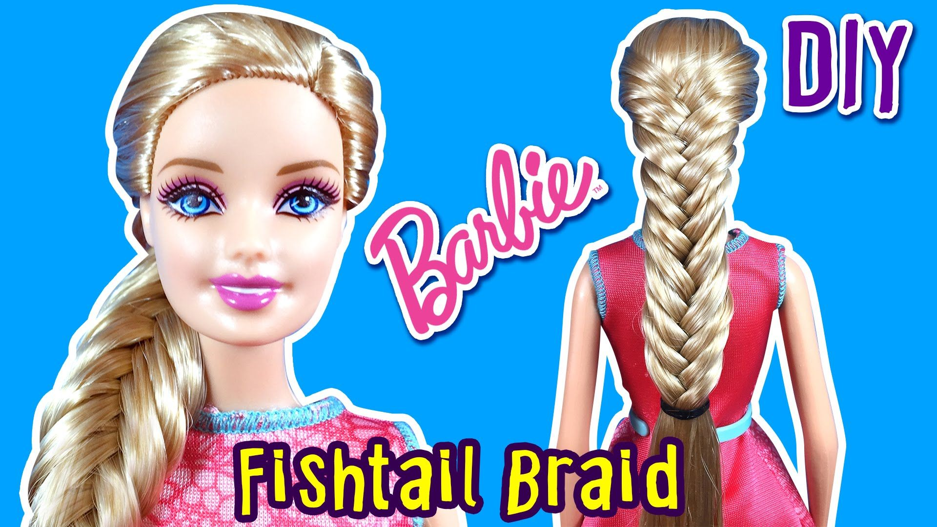 How to Make Fishtail Braid for Barbie Doll Barbie Hair Tutorial