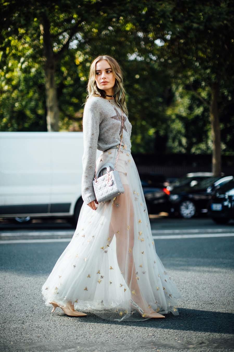 Claves de estilo para lucir una falda de tul, una prenda tan romántica como estilosa que arrasa en el street-style  – Moda