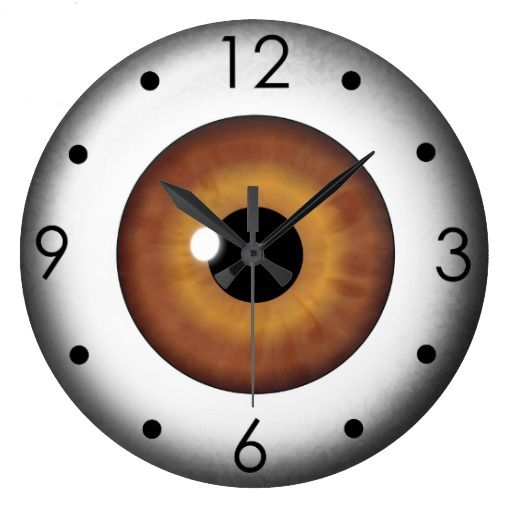 Brown Eyeball Iris Eye Custom Large Round Clock Wallclock