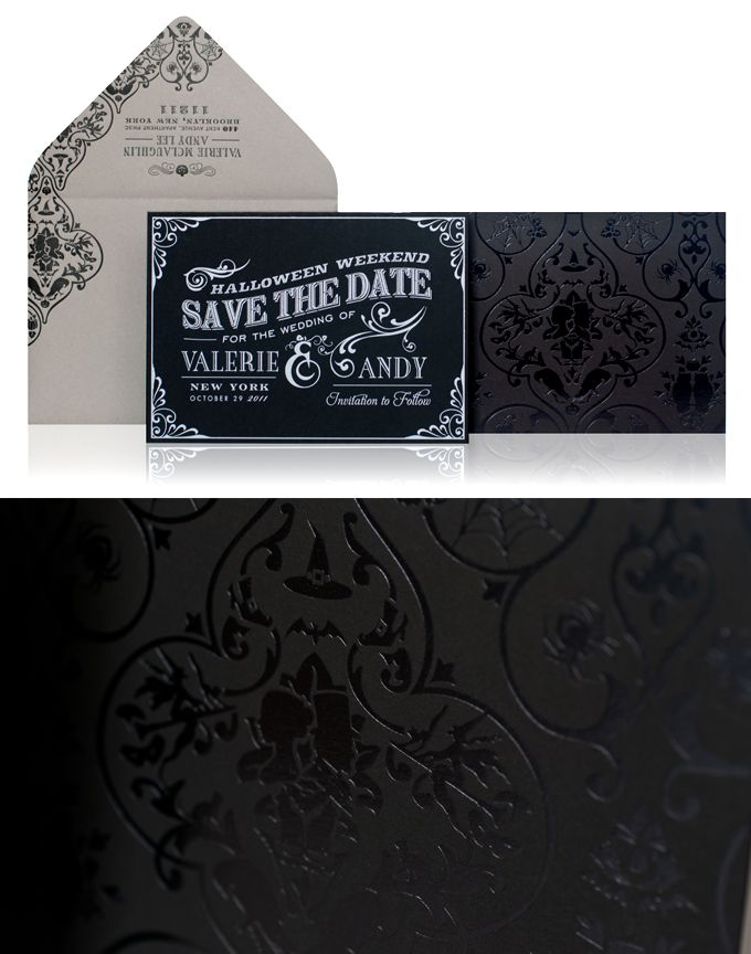 Halloween Wedding Invitations: Taking custom design to a whole new level! | Atelier Isabey The Blog