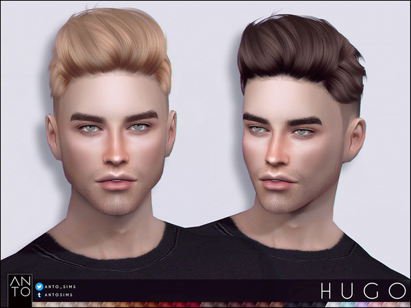 Sims 4 Cc Custom Content Male Hairstyle Anto Hugo Hairstyle In 2020 Sims Hair Sims 4 Hair Male Mens Hairstyles