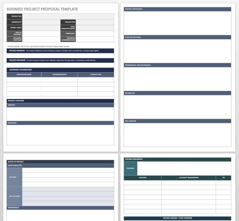 17 Free Project Proposal Templates Tips Smartsheet With Free Business Proposa Proposal Templates Free Business Proposal Template Business Proposal Template