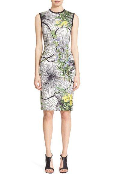 Yigal Azrouël 'Clockwork' Floral Print Scuba Dress available at #Nordstrom