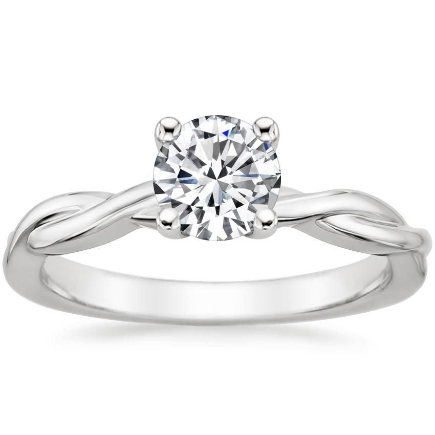 18k White Gold Twisted Vine Ring In 2020 Wedding Rings Solitaire