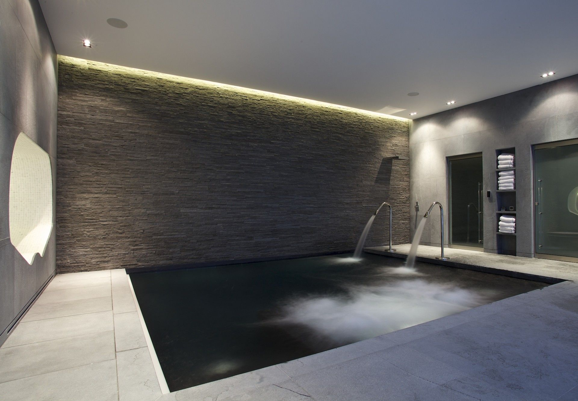 Basement spa pool london gardens pools outdoor showers Basement swimming pool construction