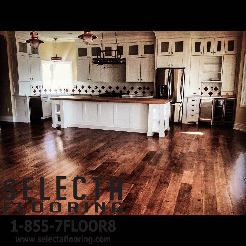 White Oak Hardwood Kitchen Flooring in Long Beach Island