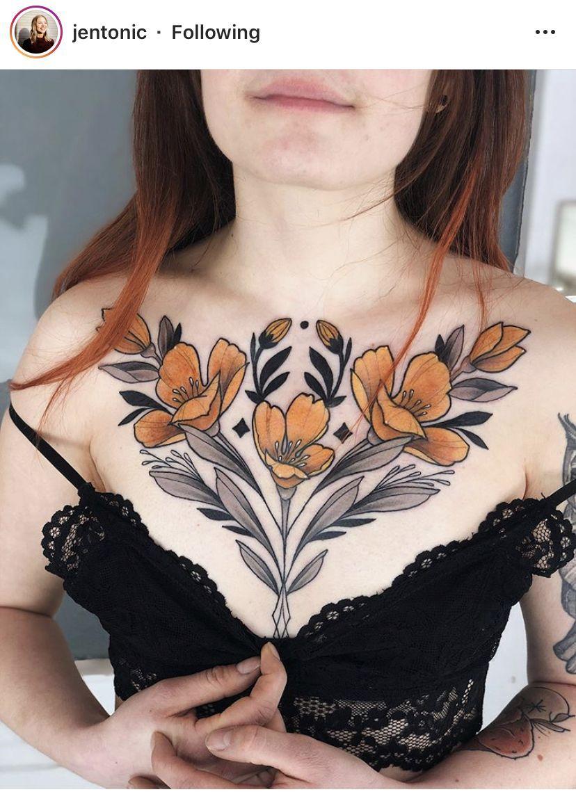 Pin En Tatuaje En El Pecho