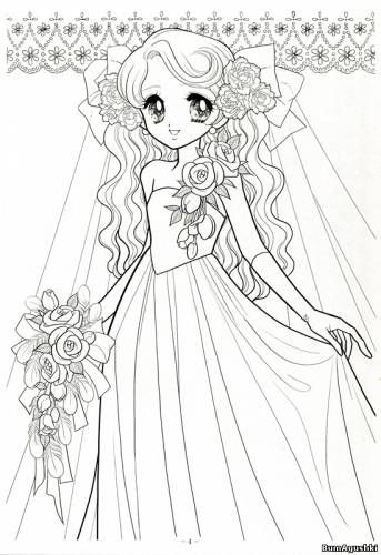 Manga Girl Coloring Pages In 2020 Manga Coloring Book Coloring Pages For Girls Coloring Books