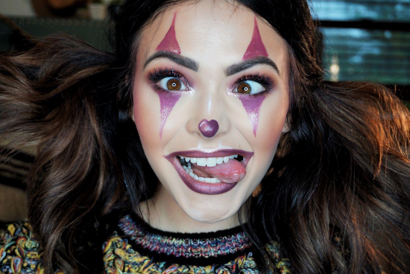 Cute clown Halloween makeup tutorial in 2019