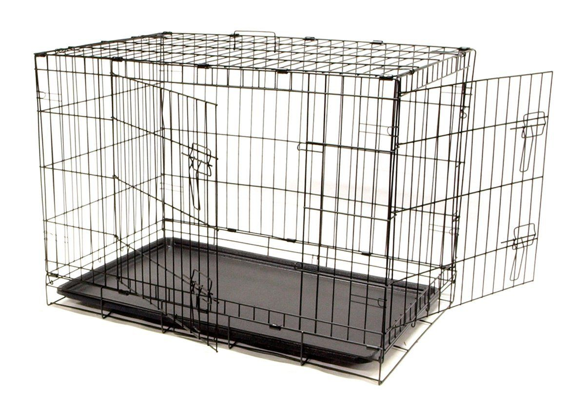 Dog Crate 36x23x26 Large 2 Door Pet Kennel Cage Folding Portable Travel Metal To View Further Visit Now Dog Cages Pet Kennels Dog Crate Large Dog Crate