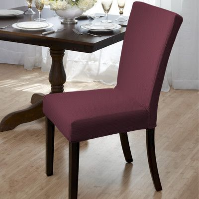 Red Barrel Studio Dining Room Chair Slipcover Upholstery Burgundy Gorgeous Slipcovered Dining Room Chairs Review