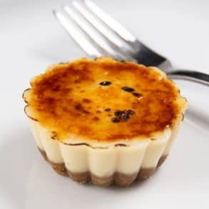 Instant Pot Creme Brulee Cheesecake Bites by Amy + Jacky #cremebrulée