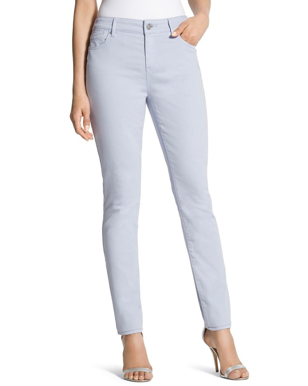 cba822e9a020a Chico's Women's Platinum Denim Jeggings In French Hydrangea