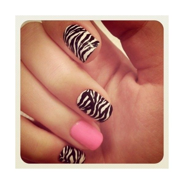Vibrant Aztec/Tribal Fake Nails found on Polyvore