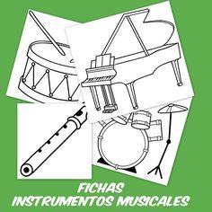Instrumentos Musicales Para Colorear Escuela En La Nube Musicales Instrumentos Musicales Actividades Musicales Preescolares