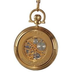 @Overstock.com - Akribos XXIV Mens Mechanical Gold Pocket Watch - Akribos XXIV mens pocket watch showcases skeleton mechanical movement. This timepiece features a gold sunray pattern dial and goldplated chain.   http://www.overstock.com/Jewelry-Watches/Akribos-XXIV-Mens-Mechanical-Gold-Pocket-Watch/5070624/product.html?CID=214117 $64.99
