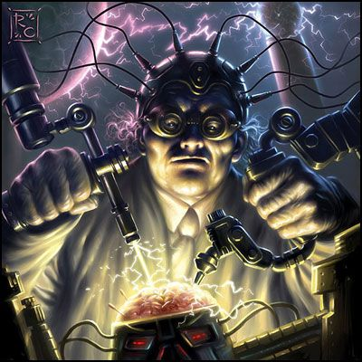 Cgsociety Creating The Mad Scientist Trading Card Illustration