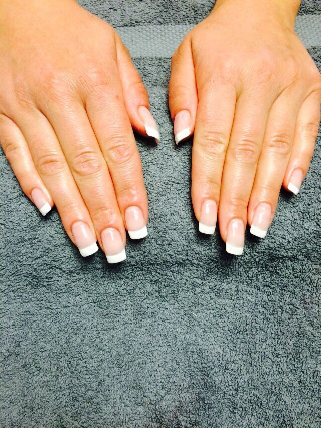 French acrylic square | French nails, Us nails, How to do ...
