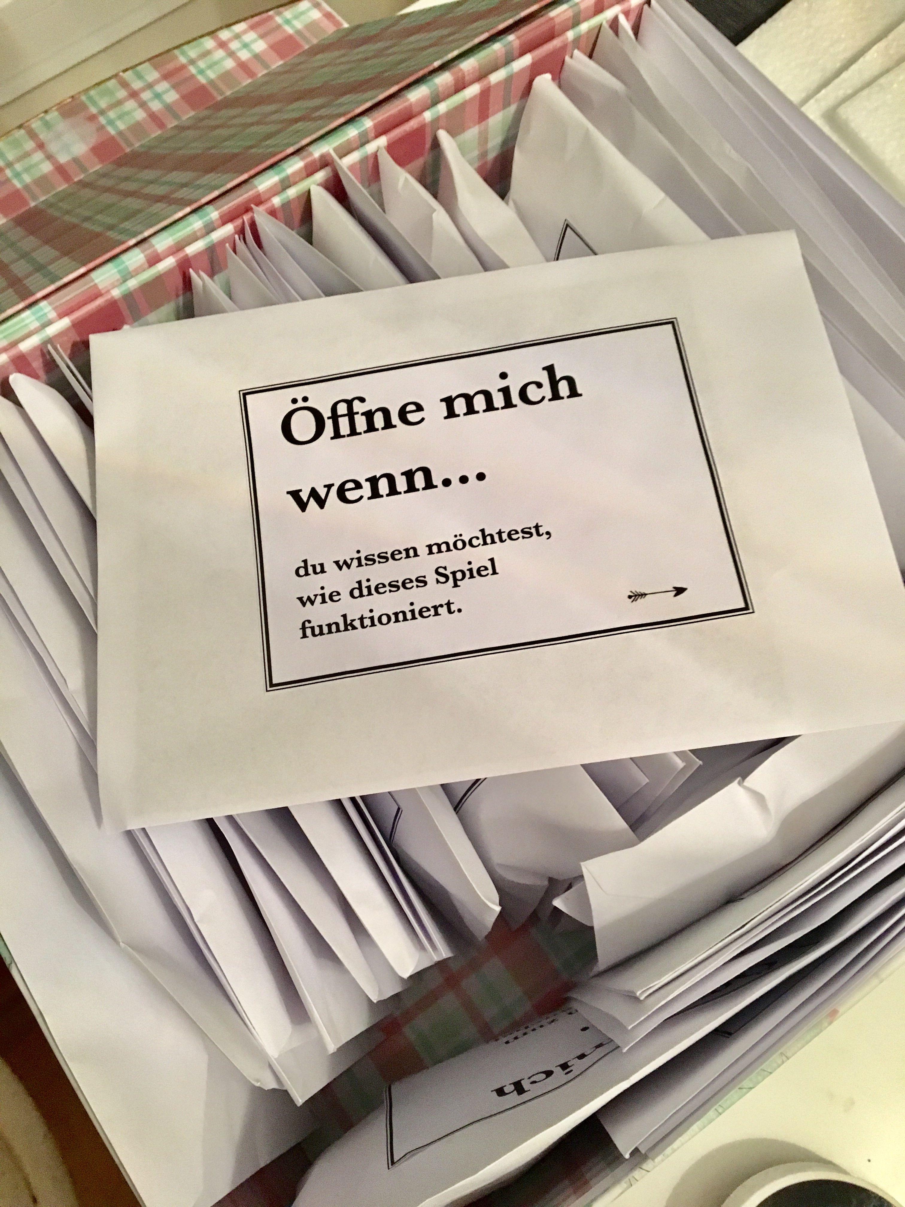Öffne mich wenn Geschenk #weihnachtsgeschenkfreund 50 Geschenkidee + Brief-Desi…