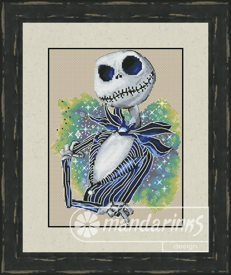 Halloween 1 Cross Stitch Pattern DMC Needlepoint Pattern Embroidery Chart Printable PDF Instant Download
