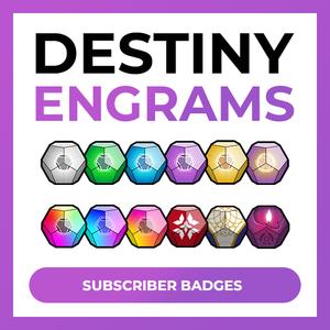 Destiny Engrams Subscriber Badges Destiny Badge Color Crayons