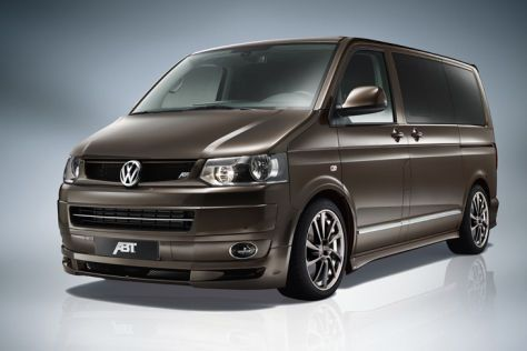 Abt drilled on the BulliThe VW T5 is not exactly known as a super athlete. HOWEVER, with the newly developed engine control unit and on exclusive styling package, Abt Sportsline the fast lane Could become the Bulli area!