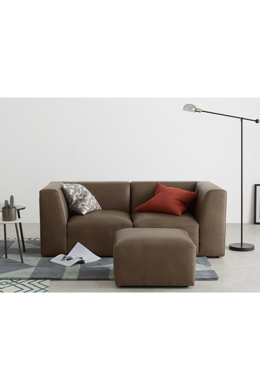 Made Sofa Braun Sofa 2 Seater Sofa Leather Sofa