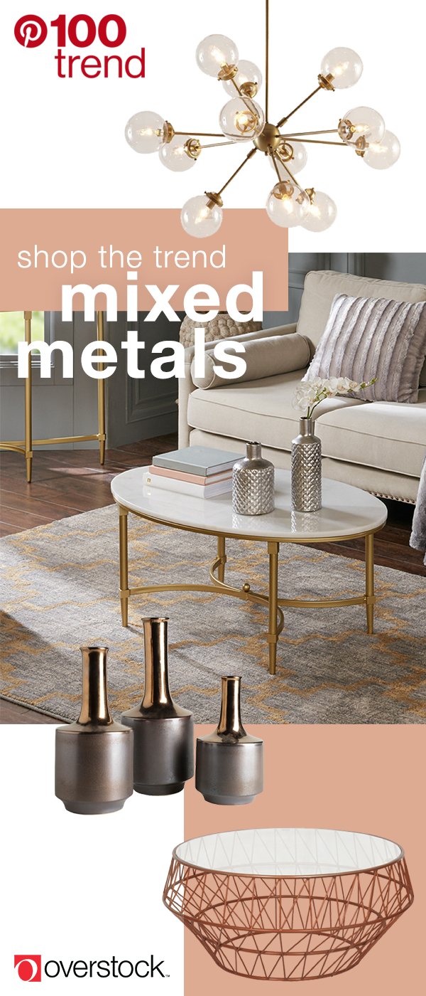 Mixed Metal Decor For An On Trend Look Overstock Com Home Decor Mixed Metals Decor Home Decor Trends