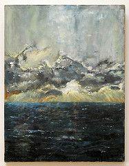 O! Stormy Sunset by Regina Barker-Barzel - Oil