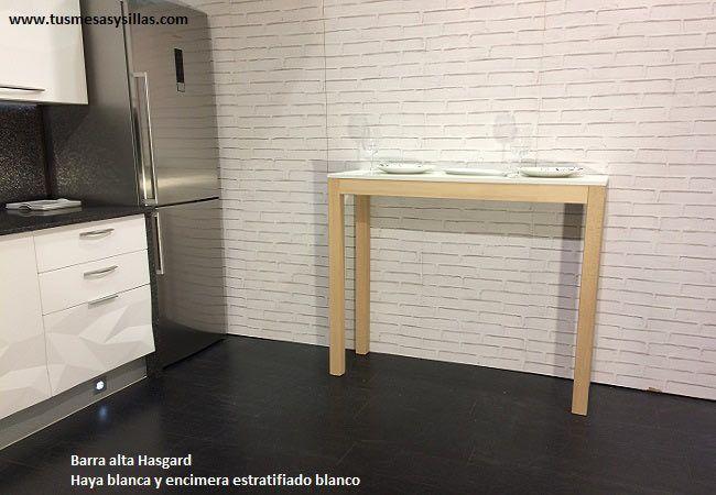 Barra mostrador para desayunos de estilo nordico con patas en ...