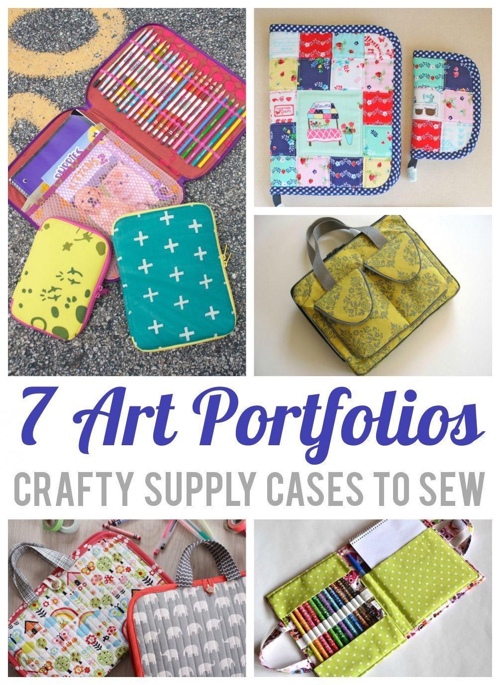 7 Organizer Sewing Patterns for Art Supplies | Nähen, Nähprojekte ...
