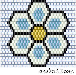 Схемы сережек - кирпичное плетение + схема браслета
