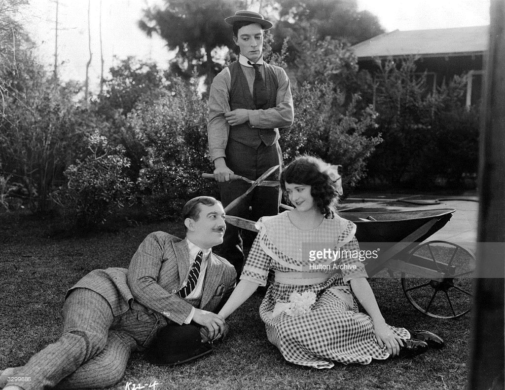 American Comedian Buster Keaton Stars With Kathryn Mcguire In The Comedians Busters Colleen Moore