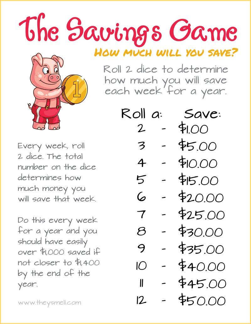 The 52 Week Savings Game – A Fun Way to Save Over $1,000 ...