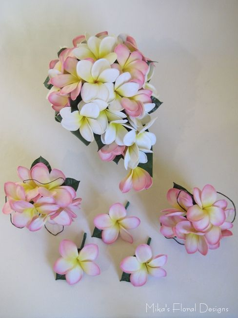 Real Touch Frangipani Wedding Flower Package Rustic Wedding