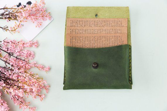 Green leather business card holder business card case credit card green leather business card holder business card case credit card holder credit card case coin p colourmoves