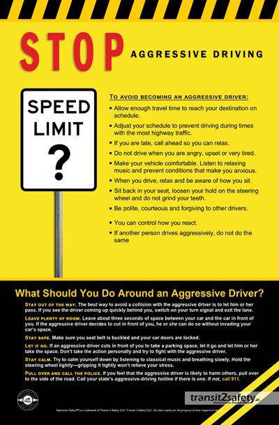 stop aggressive driving Safety posters, Aggressive