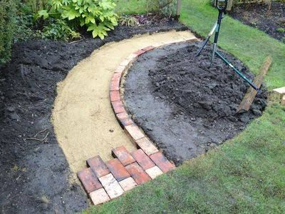 Image Result For How To Build Brick Path Curved Brick Garden Brick Path Garden Features