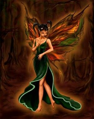Celtic fire fairy