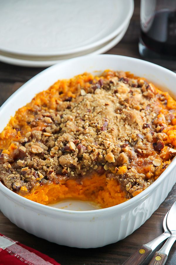 The Best Sweet Potato Casserole - Baker by Nature
