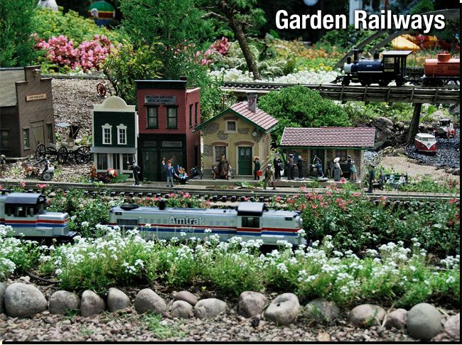 1000 images about Garden Trains on Pinterest Gardens Fathers