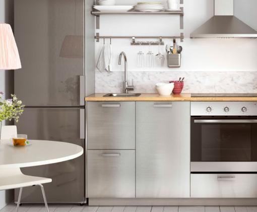 armarios-de-cocina-ikea-en-acero.jpg | cocinas | Pinterest ...