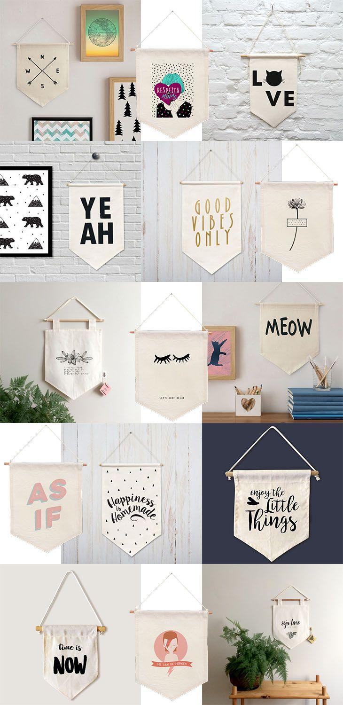 Hanging Wall Banner | Maker Crate | DIY | Pinterest | Wall banner ...