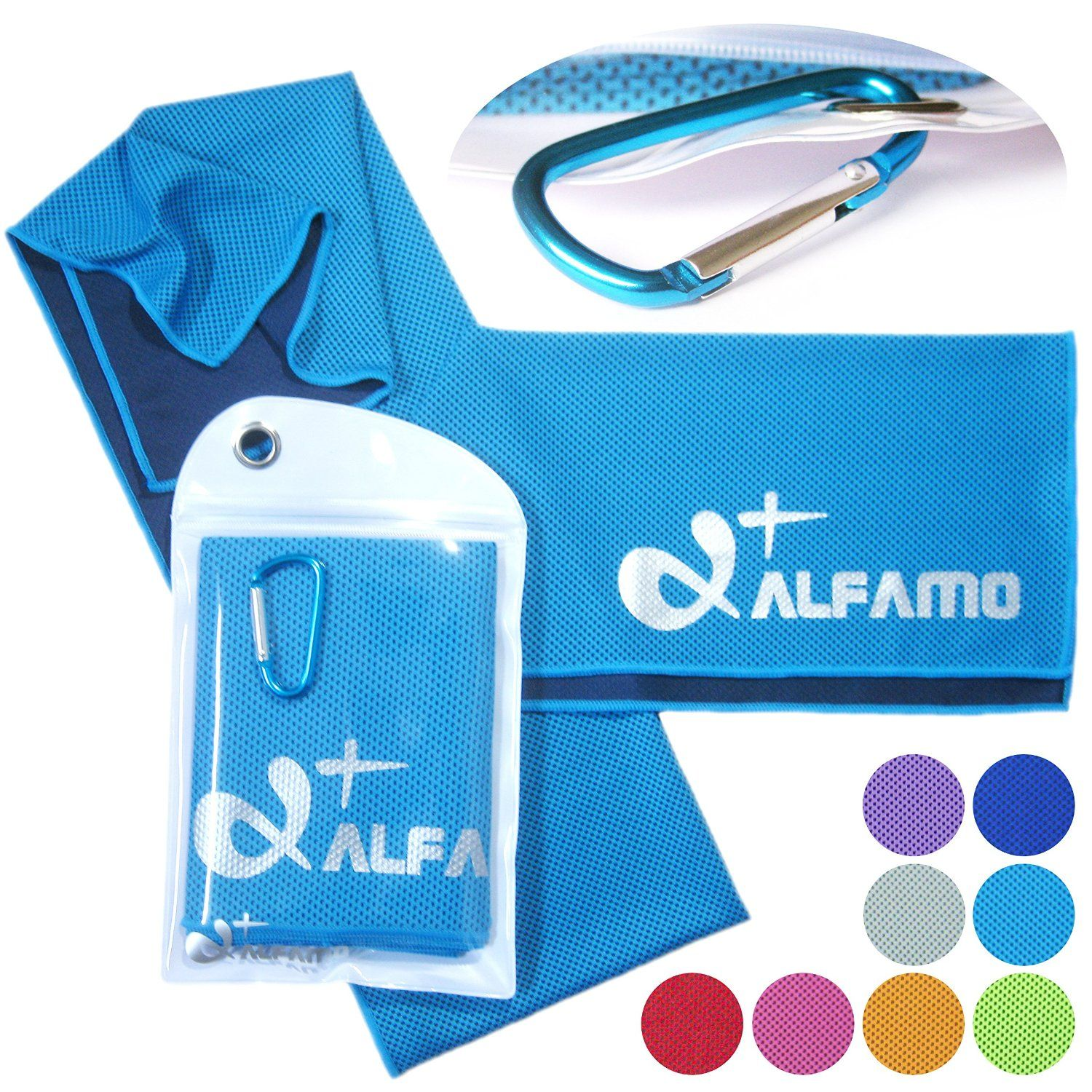 Alfamo Cooling Towels For Sports Fitness Gym Yoga 40 Inch Only