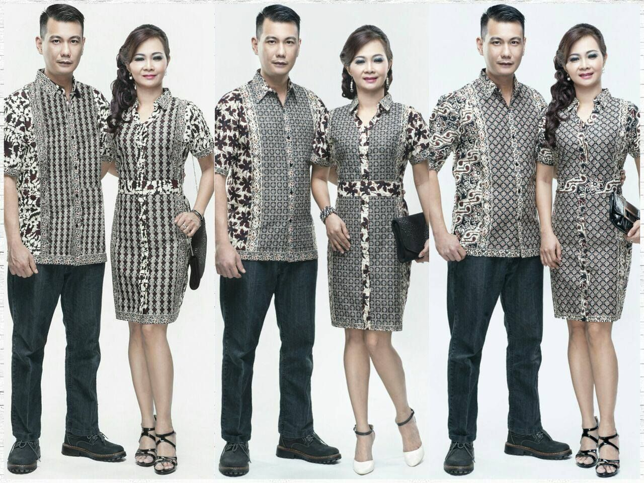 Model Baju Batik Gaun Couple 4