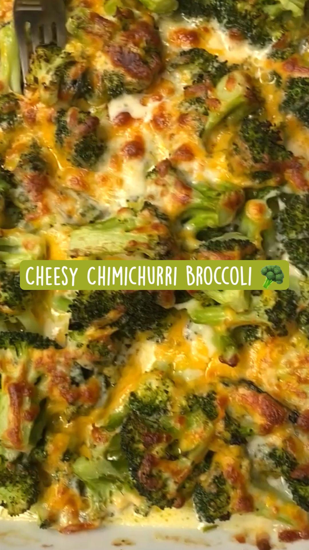 Cheesy Chimichurri Broccoli 🥦