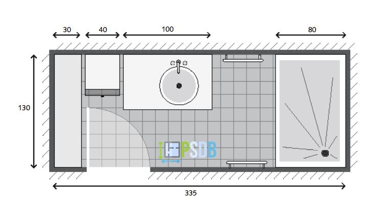 Exemple De Plan De Salle De Bain De 4 4m2 Plan Salle De Bain Salle De Bains En Longueur Petite Salle De Bain